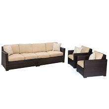 Metropolitan 4PC Lounge Set in Sahara Sand - METRO4PC-B-TAN