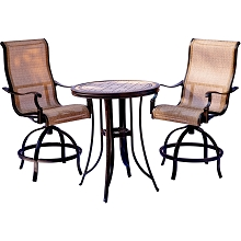 Hanover Monaco 3PC High-Dining Set - MONDN3PC-BR