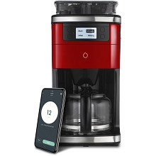 Smarter Smart iCoffee Brew Coffee Maker in Red with Built-in Grinder and Smarter App for Customized Coffee On Demand, SMARTERCOFFEE