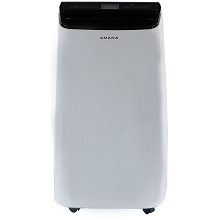 Amana 12,000 BTU Portable Air Conditioner with Remote Control in White/Black - AMAP121AB