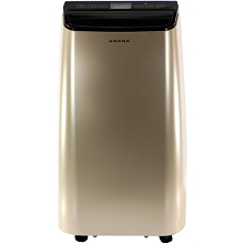 Amana 12,000 BTU Portable Air Conditioner with Remote Control in Gold/Black - AMAP121AD