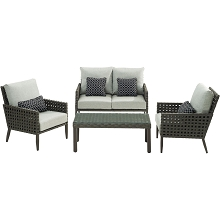 Hanover Archer 4-Piece Lounge Set - ARC-4PC-SLV