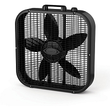 Lasko Decor Colors 20 In. Box Fan - Black - B20401
