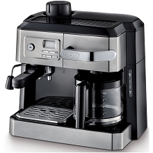 DeLonghi Coffee, Cappuccino and Espresso Machine with Programmable Timer in Stainless Steel - BCO330T