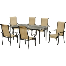 Hanover Brigantine 7-Piece Dining Set with an Expandable Cast-Top Dining Table - BRIGDN7PC-EX