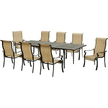 Hanover Brigantine 9-Piece Dining Set with an Expandable Cast-Top Dining Table - BRIGDN9PC-EX
