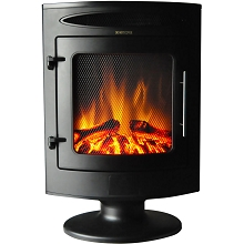 Cambridge 1500W Freestanding Electric Fireplace with Log Display - CAM20FSEF-1BLK