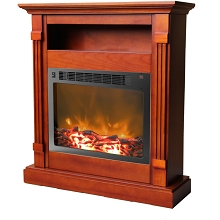 Sienna Fireplace Mantel with Electronic Fireplace Insert in Cherry - CAM3437-1CHR