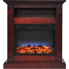 Cambridge Sienna 34 In. Electric Fireplace w/ Multi-Color LED Insert and Cherry Mantel - CAM3437-1CHRLED