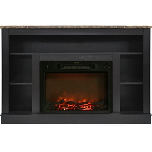 Cambridge 47 In. Electric Fireplace with a 1500W Log Insert and Black Coffee Mantel - CAM5021-1COF