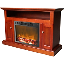 Sorrento Fireplace Mantel with Electronic Fireplace Insert in Cherry - CAM5021-2CHR