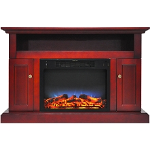 Cambridge Sorrento Electric Fireplace with Multi-Color LED Insert and 47 In. Entertainment Stand in Cherry - CAM5021-2CHRLED