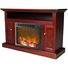 Sorrento Fireplace Mantel with Electronic Fireplace Insert in Mahogany - CAM5021-2MAH