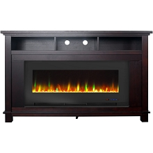 Cambridge San Jose Fireplace Entertainment Stand in Mahogany with 50