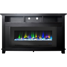 Cambridge San Jose Fireplace Entertainment Stand in Black with 50