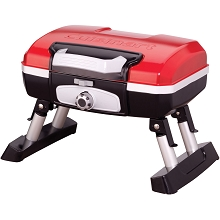 Cuisinart Petit Gourmet Portable Tabletop Outdoor LP Gas Grill in Red/Black - CGG-180T