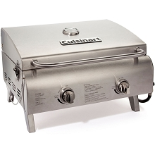 Cuisinart Chef's Style Tabletop Gas Grill in Stainless Steel - CGG-306