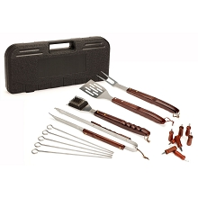 Cuisinart 18PC Wooden Handle Grilling Set - CGS-W18