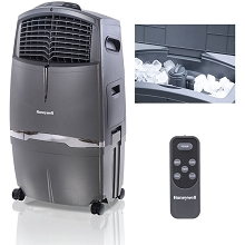 Honeywell 525 CFM Indoor Evaporative Air Cooler (Swamp Cooler) with Remote Control in Gray - CL30XC