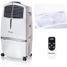 Honeywell 525 CFM Indoor Evaporative Air Cooler (Swamp Cooler) with Remote Control in White - CL30XCWW