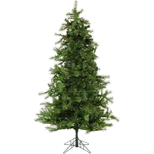 Christmas Time 6.5-Ft. Colorado Pine Artificial Christmas Tree with Multi-Color LED String Lighting and Holiday Soundtrack - CT-CP065-ML