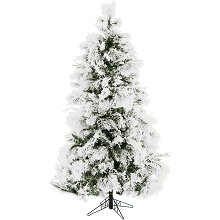 Christmas Time 6.5-Ft. Frosted Fir Snowy Artificial Christmas Tree - CT-FF065-NL