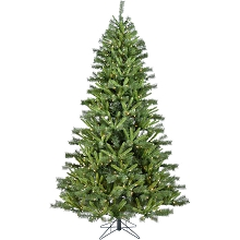 Christmas Time 7.5-Ft. Norway Pine Artificial Christmas Tree with Clear LED String Lighting - CT-NP075-LED