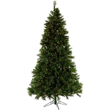 Christmas Time 6.5-Ft. Pennsylvania Pine Artificial Christmas Tree with Clear Smart String Lighting - CT-PA065-SL