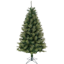 Christmas Time 7.5-Ft Green Vermont Pine Green Christmas Tree with Metal Stand, CT-VP075-NL