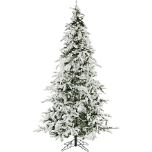 Christmas Time 7.5-Ft. White Pine Snowy Artificial Christmas Tree - CT-WP075-NL