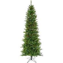 Christmas Time 6.5-Ft Prelit Winter Wonderland Slim Green Christmas Tree with EZ Connect Multi Color LED Lights, CT-WW065-ML