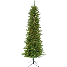 Christmas Time 6.5-Ft Prelit Winter Wonderland Slim Green Christmas Tree with EZ Connect Clear Smart Lights and Metal Stand, CT-WW065-SL