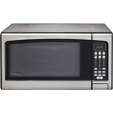 Danby Designer 1.1 Cu. Ft. Microwave Oven in Stainless Steel - DMW111KPSSDD