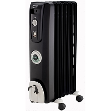 Delonghi Safeheat 1500-Watt ComforTemp Portable Oil-Filled Radiator in Black - EW7707CB