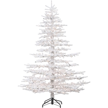 Fraser Hill Farm 7.5 Ft. Arctic Pine Artificial Christmas Tree with HLED String Lighting - FFAP075-5SN
