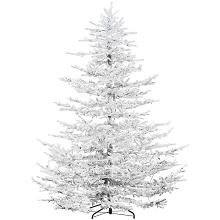 Fraser Hill Farm 9 Ft. Arctic Pine Artificial Christmas Tree with Multi-Color LED String Lighting - FFAP090-6SN