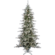 Fraser Hill Farm 9 Ft. Buffalo Fir Slim Artificial Christmas Tree with LED String Lighting - FFBF090-5SN