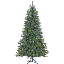 9 Ft. Canyon Pine Christmas Tree with Multi-Color LED String Lighting - FFCM090-6GR