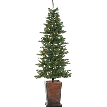 Fraser Hill Farm Colorado Fir 6 Ft. Artificial Holiday Potted Tree with Smart LED Lighting, FFCO060PT-3GR