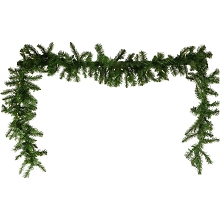 Fraser Hill Farm 9-Ft. Colorado Fir Artificial Holiday Garland with Battery-Operated Warm LED String Lights, FFCO090G-5GRB