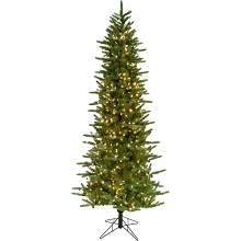 Fraser Hill Farm 7.5 Ft. Carmel Pine Slim Artificial Christmas Tree with Smart String Lighting - FFCP075-3GR
