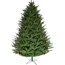 Fraser Hill Farm 7.5-ft. Centerville Pine Christmas Tree with Warm White String Lighting and EZ Connect, FFCV075-5GR