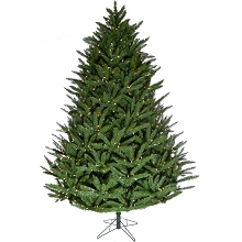 Fraser Hill Farm 9-ft. Centerville Pine Christmas Tree with Clear Smart String Lighting and EZ Connect, FFCV090-3GR