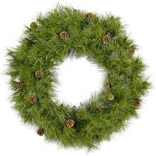 Fraser Hill Farm 36-In. Eastern Pine Artificial Holiday Wreath - FFEP036W-0GR