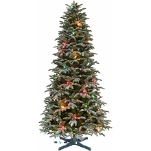 Fraser Hill Farm 7.5-ft. Eagle Rock Tree with Rotating Stand and Multi Colored C7 Twinkle Lights, FFER075-6SN-RSTD