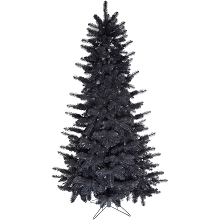Fraser Hill Farm 5-Ft. Festive Tinsel Christmas Tree, Black, FFFT050-0BL