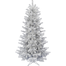 Fraser Hill Farm 5-Ft. Festive Tinsel Christmas Tree, Silver, FFFT050-0SL