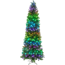 Fraser Hill Farm 7.5-Ft. Festive ALL-Season Christmas Tree with Multi-Color RGB LED Lights and LeaveUP Lites APP, FFFT075-1RGB