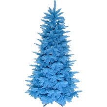 Fraser Hill Farm 6.5 Ft. Festive Turquoise PVC Tree, No Lights, FFFTPVC065-0TU