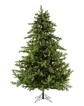 9 Ft. Foxtail Pine Christmas Tree with Clear LED String Lighting - FFFX090-5GR